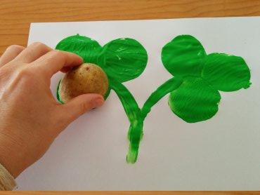 Arts-and-crafts-potato-printed-shamrock-4
