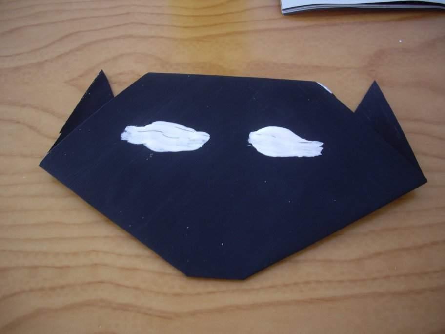Halloween origami cat7-activities for kids
