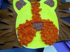 Crafts for kids - Paper lion | Misstesl