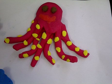 Crafts for kids - Plasticine octopus | Misstesl