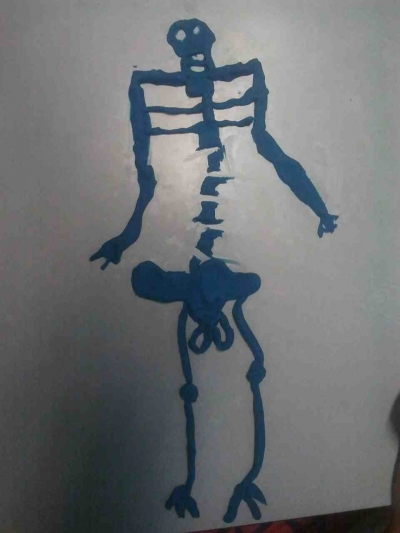 Play-doh Skeleton